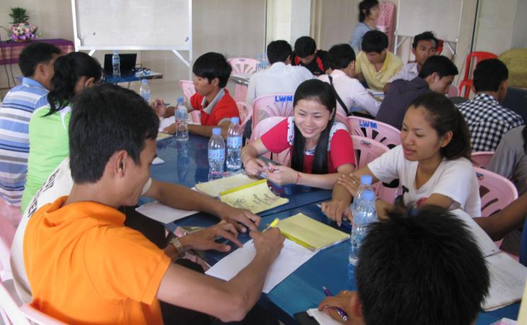Participants in an LWF-facilitated project management workshop for the Lutheran Church in Cambodia. Photo: Sally Lim