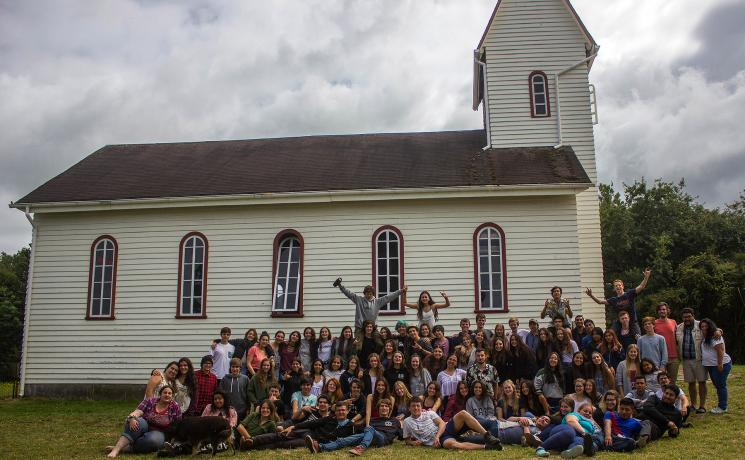 Young participants in the annual youth camp in Puerto Fonck organized by the ILCH Youth Ministry. Photo: Karla Güttler/Lutheran Church in Osorno (ILCH)