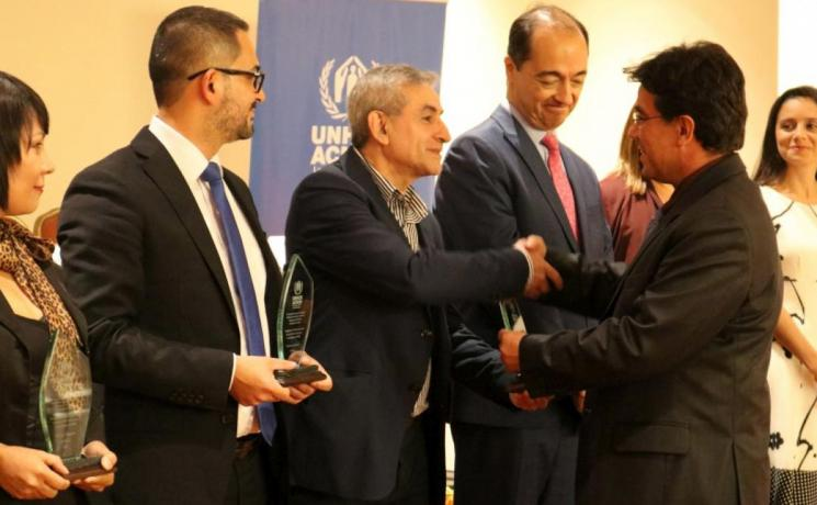 """The UNHCR """"Living Integration Seal"""" recognizes ILCO and 26 other public and private organizations for their response to refugees and asylum seekers in Costa Rica. Photo: UNHCR/Austin Ramírez"""
