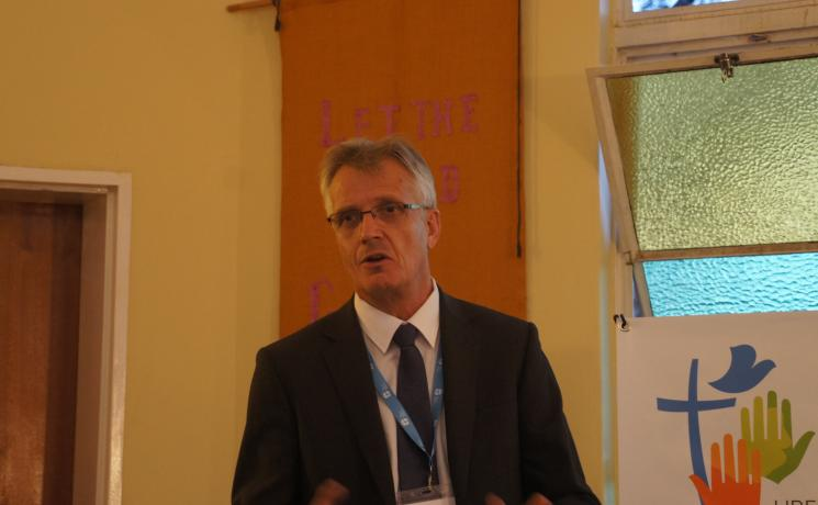 LWF General Secretary Rev. Dr Martin Junge tells participants at the Global Perspectives on the Reformation conference: uphold the importance of freedom as a key insight of Lutheran Reformation.  Photo: LWF/I. Benesch
