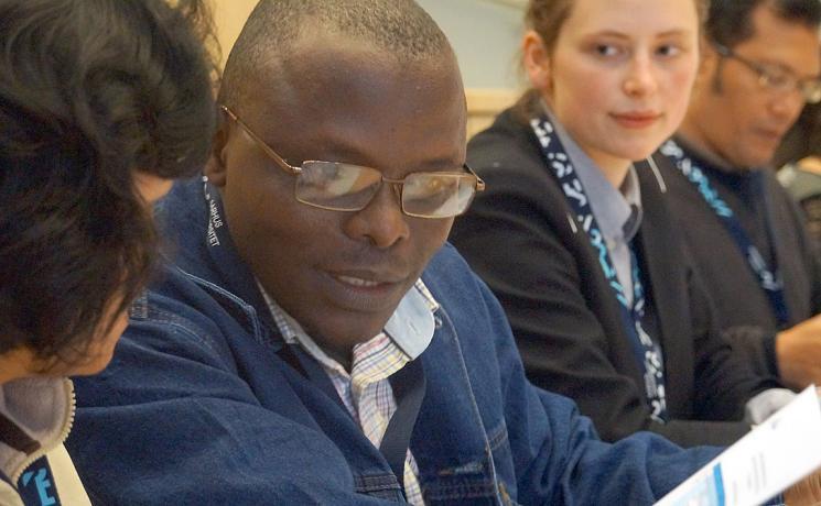 Cameroonian theologian Rev. Dr Samuel Dawai speaks at the fourth LWF Bible interpretation conference, hosted by Aarhus University in Denmark. Photo: LWF/I. Benesch
