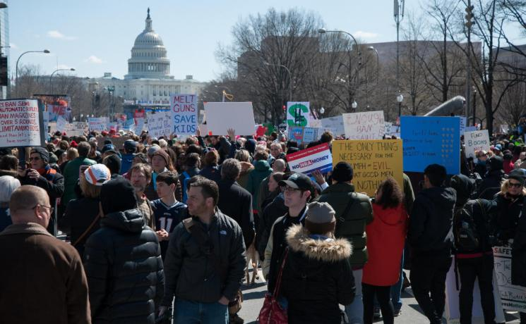 Demonstrators at the 2018 March For Our Lives in Washington D.C. Photo: Creative Commons Rosa Pineda