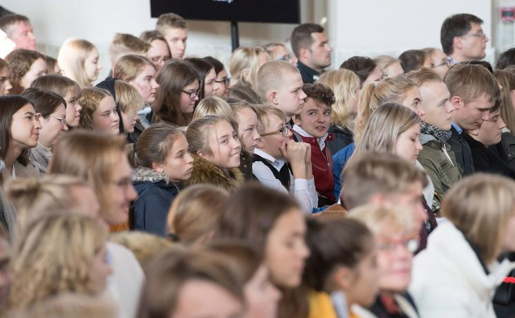 Young people at an ecumenical youth gathering in Estonia's Lutheran St Charles Church were encouraged by Pope Francis that to live a life based on love. Photo: EELC