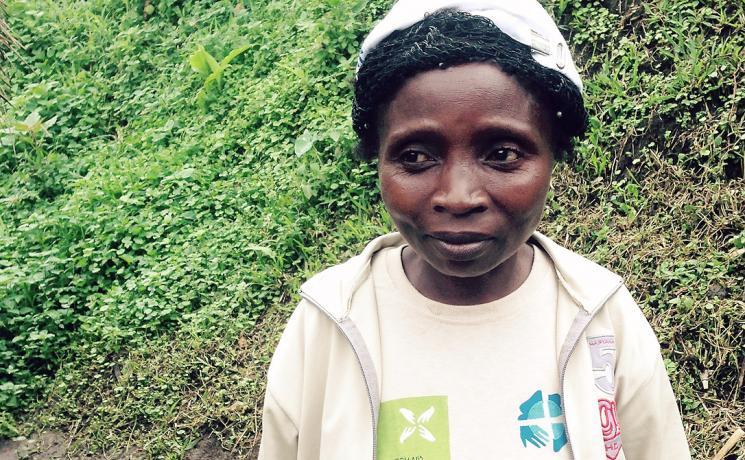 LWF staff member Charlotte, in Masisi, DRC. Photo: LWF/ S. Muis