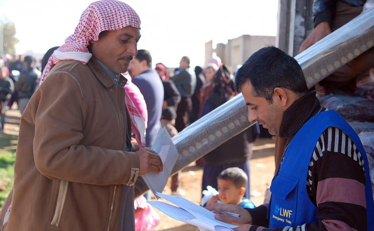 The LWF assists Syrian refugees inside Za'atari camp and in Jordanian host communities. Photo: LWF Jordan