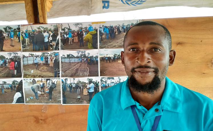 Mputu Muyembi in Lovua refugee settlement . Photo: LWF/ A. Mushivi