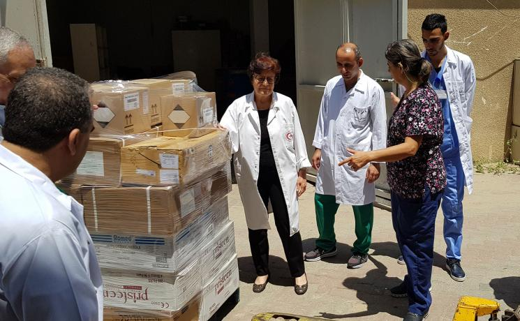 "Churches and agencies are calling on the U.S. government ""to extend compassion and help to those who are in need"" at this time of global pandemic. Photo: LWF/ Shaban Mortaja (Juzoor Gaza)"