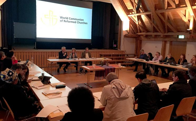 LWF General Secretary, Rev. Dr Martin Junge, addressing the WCRC Executive Committee. Photo: WCRC/P.Tanis