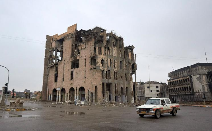 The ruins of a building in war-torn Mosul, Iraq. Photo: Paul Jeffrey/ACT Alliance