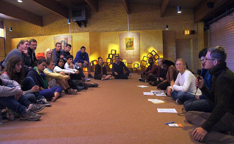 The LWF Young Reformers Steering Group members participated in the 2014 meeting of the ecumenical community of Taizé in France. Photo: LWF/ C. Kästner