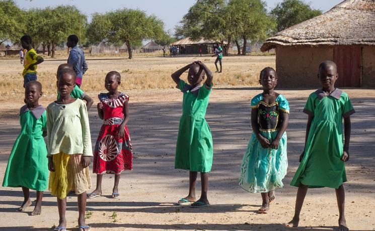 A group of children in Jonglei state, South Sudan. Photo: ALWS/ Julie Krause
