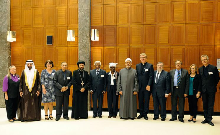 """Our being together here is an expression of the fact we are unanimous in our resolve not to be derailed from the message of peace,"" Junge told the gathering, which included the Muslim Council of Elders led by the Grand Imam of Al-Azhar, and representatives of the World Council of Churches, its member churches and ecumenical partners including the LWF."