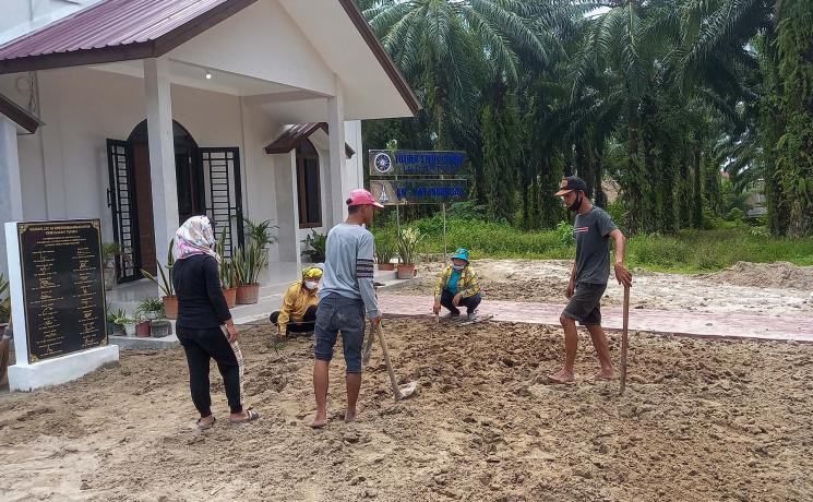 Transforming 500 square meters of dry land into fertile land: the Lutheran City Forest at the Luther Study Centre of KN-LWF in Pematang Siantar, Indonesia. Photo: KN-LWF