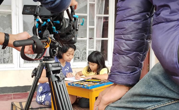 A scene from the short film 'Place among the stars' produced by the LWF National Committee in Indonesia and local partner Jakatarub. Photo: KNLWF-Jakatarub/Yunita Tan