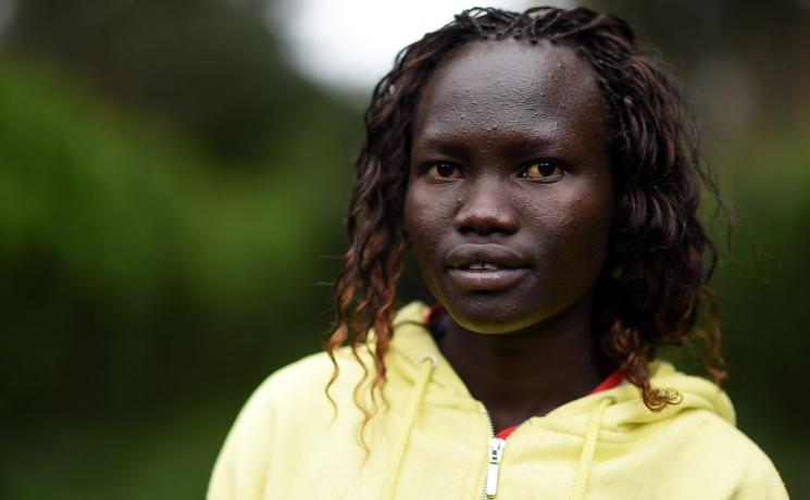 Rose Nathike Lokonyen, a South Sudanese refugee, now a world-class athlete at the 2016 Olympics. Photo: UNHCR/Benjamin Loiseau