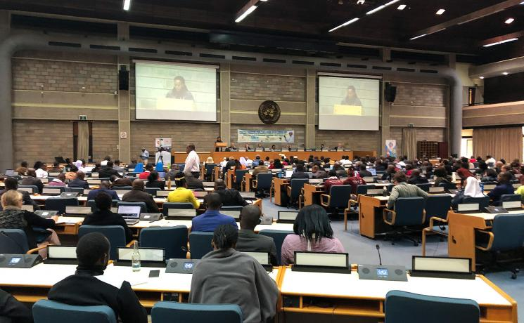 Plenary at the conference in Nairobi entitled 'Laudato Si' Generation: Young People Caring for our Common Home' Photo: Helmut Fluhrer