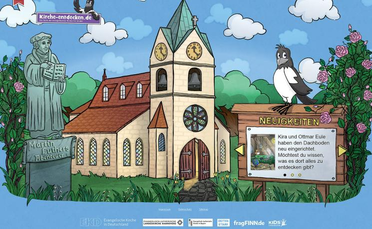 """The """"Discovering church"""" website invites children to discover the church and Christian faith and to explore the life of Martin Luther and the Reformation. Photos: epv"""