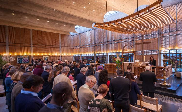 The Lund Cross is a symbol of this milestone in ecumenial relations. It will be accessible to visitors and pilgrims in the chapel of the Ecumenical Center. Photo: LWF/S. Gallay