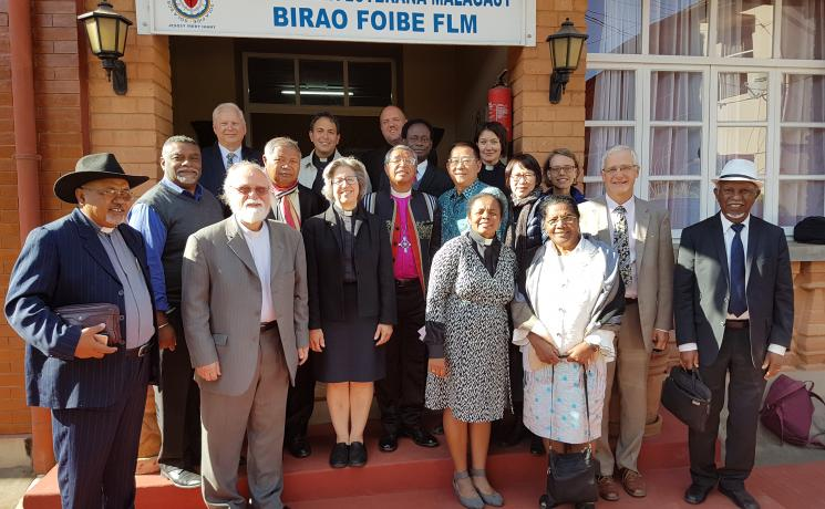 Participants in the 2019 meeting of the Lutheran-Pentecostal Dialogue in Antananarivo, Madagascar. Photo: MLC