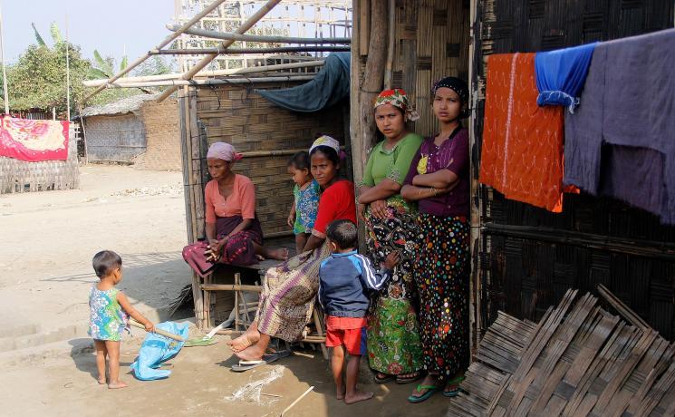 Displaced Rohingya living in Ohn Taw Gyi (South) camp, Rakhine/ Myanmar. Photos: LWF/ I. Htun