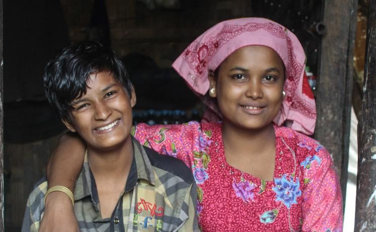 Showkat and her sister, who takes care of her most of the time. All photos: LWF/ S. Thandar