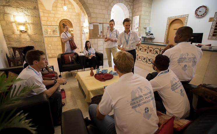 Peace messenger training in Jerusalem. Photo: LWF/ B. Grey