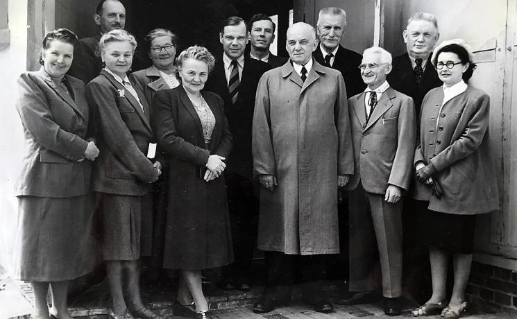 Elected deacons and officers at Augustdorf in the British zone, west Germany. Photo: LWF Archives