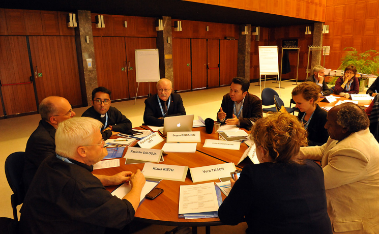 In a group work session, delegates at the consultationdiscussed how youth in many churches that are experiencing membership growth are a driving force for mission across all generations. Participants shared strategies on focus themes, resource mobilization, and inspiring activities that help to get more youth engaged in what the church is doing.  Photo: LWF/S. Gallay