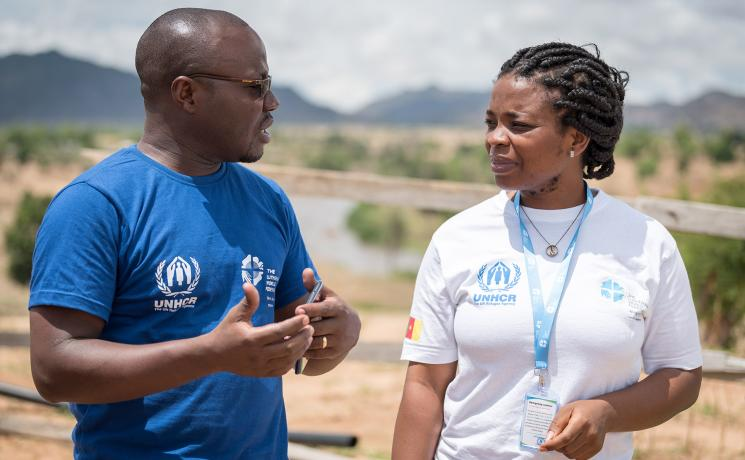 Working together, for people in need: LWF and UNHCR staff in Cameroon. Photo: LWF/ Albin Hillert