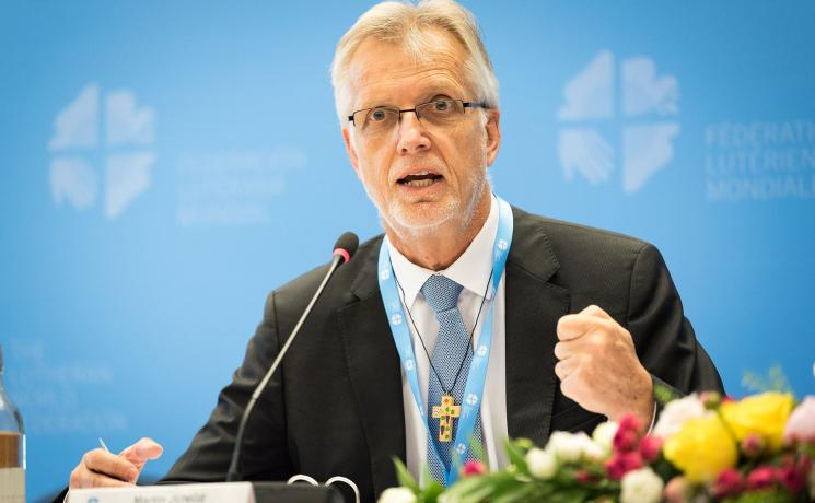 """""""We know that this year is crucial. The world must use the momentum for climate action,"""" said LWF General Secretary Junge. Photo: LWF/Albin Hillert."""
