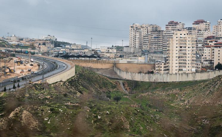 Dahiet Al-Salam, in the Shufat Camp area of Jerusalem, has been closed off by the Israeli authorities' construction of the separation wall that runs through Jerusalem. Photo: LWF/Albin Hillert