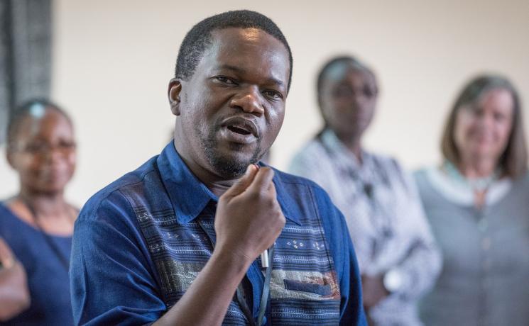 Professor Ezra Chitando speaking at an HIV interfaith consultation in Nairobi, Kenya. Photo: Albin Hillert/WCC