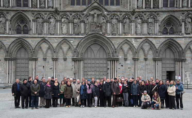 Delegates of the Trondheim Church Leadership Consultation at Nidaros Cathedral. Photo: LWF/Ryan Rodrick Beiler