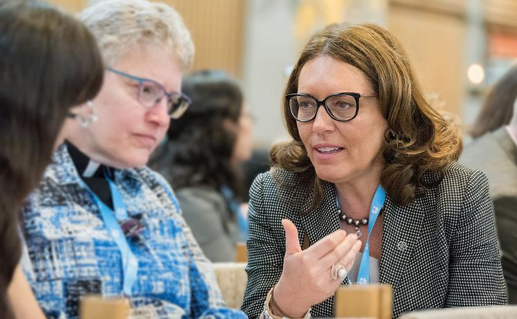 Cordelia Vitiello is a member of the LWF Council, representing Central and Western Europe. Her home church is the Evangelical Lutheran Church in Italy where she is actively engaged in the diaconal and social work. Photo: LWF/Albin Hillert