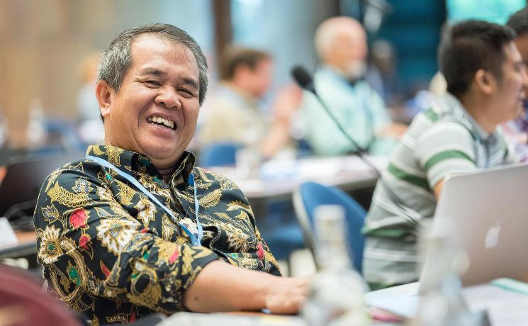 LWF Council member Bishop Dr Tuhoni Telaumbanua. Photo: LWF / Albin Hillert