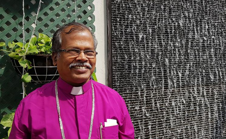 Bishop Daniel Jayaraj, Tamil Evangelical Lutheran Church. Photo: LWF/P. Lok
