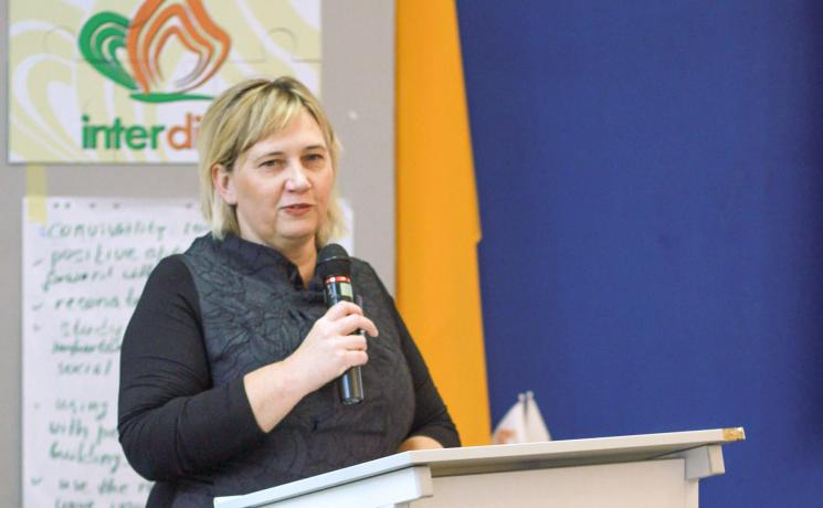 """""""Rooted in seeking justice"""" Janka Adameová is the director and co-founder of the International Academy of Diakonia and Social Action of Central and Eastern Europe (interdiac). Photo: LWF"""