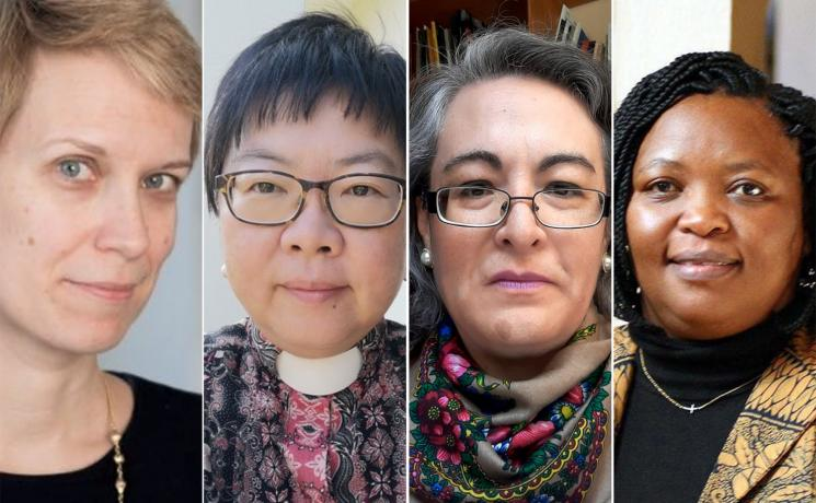 During a 30 March webinar, four ordained women from Mexico, Austria, Tanzania and Malaysia talked about the challenges they face and responsibilities they share in bringing an alternative voice to the highest levels of church leadership. Photo: Composite