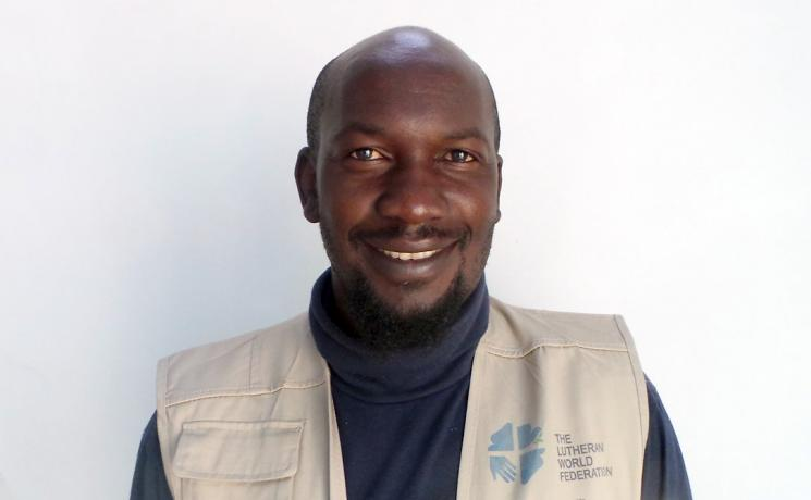 The LWF supported Benny Fulayi as a young refugee. Now he works for them. Photo: LWF Angola