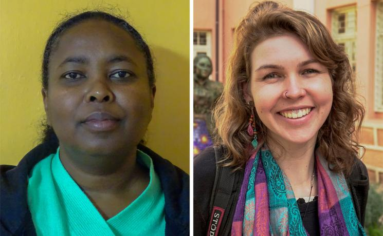 Participants in the online training included Lillian W. Kantai, LWF Kenya-Somali Program (left) and Sabrina Senger, Evangelical Church of the Lutheran Confession in Brazil. Photos courtesy