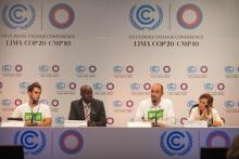 Fast for Climate Delegates participating in COP20 Talks    Photo: LWF/Sean Hawkey