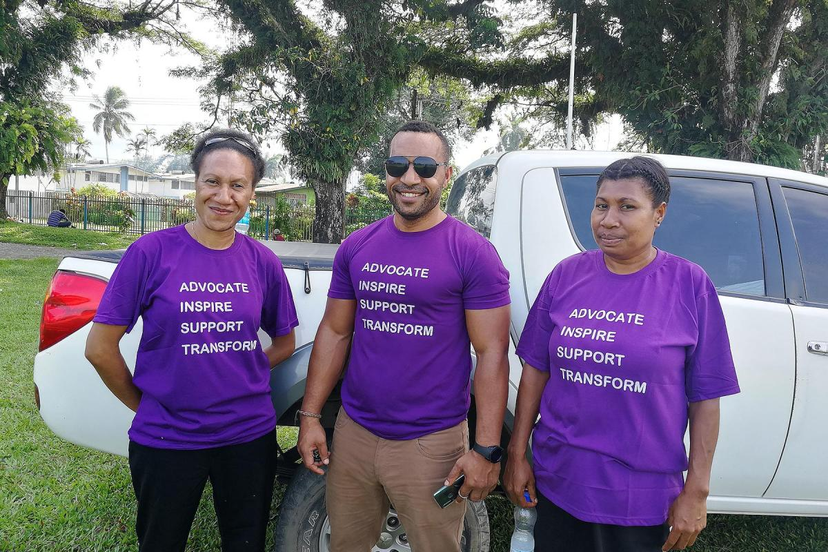 Members of the Evangelical Lutheran Church in Papua New Guinea take part in activities to launch 20 Days of Activism against Gender-Based Violence. Photo: ELCPNG/Asenath Tubian