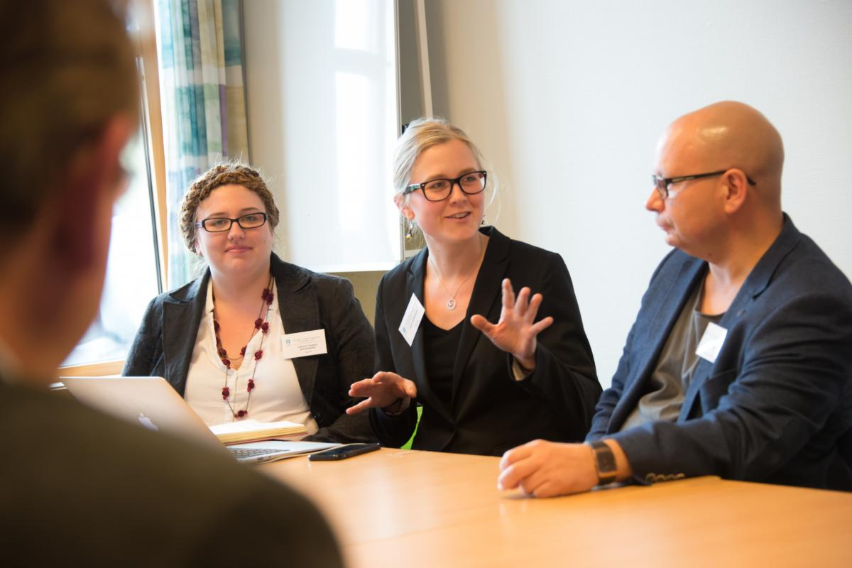 Patricia Sophie Böckmann, from the Union of Protestant Churches of Alsace and Lorraine and Karin Rubenson, from the Church of Sweden, lead discussion on inter-generational dialogue on climate justice at a LWF meeting in Norway, May 2015. The upcoming mission meeting will encourage holistic mission among churches.