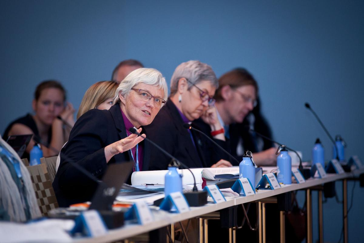 Archbishop Dr Antje Jackelén speaks during the 2016 Council meeting.  Photo: LWF/Marko Schoeneberg.