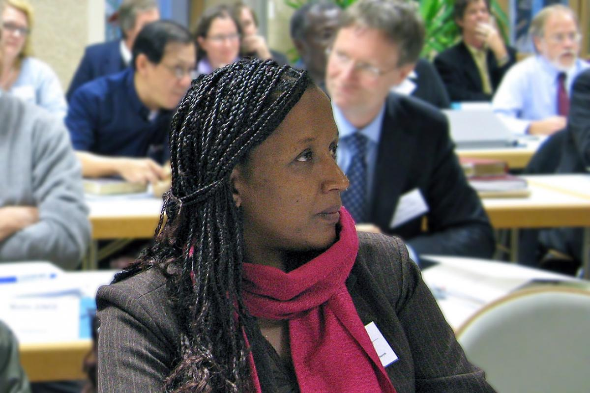 Ebise Dibisa Ayana at the LWF global consultation on theological education and formation in Wittenberg, Germany 2012. Photo: LWF/Anli Serfontein