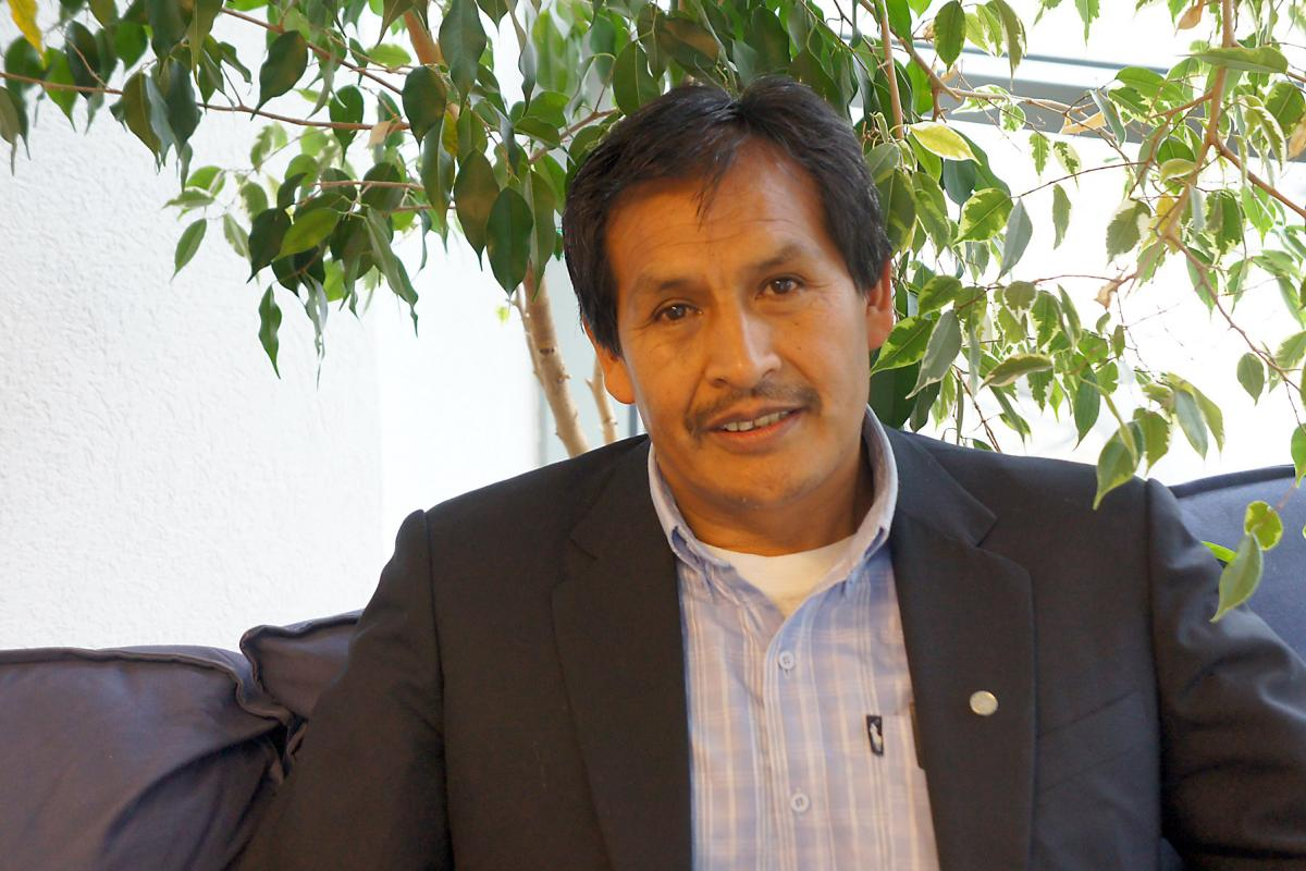 Bolivian Lutheran church leader Rev. Emilio Aslla. Photo: LWF/S. Gallay