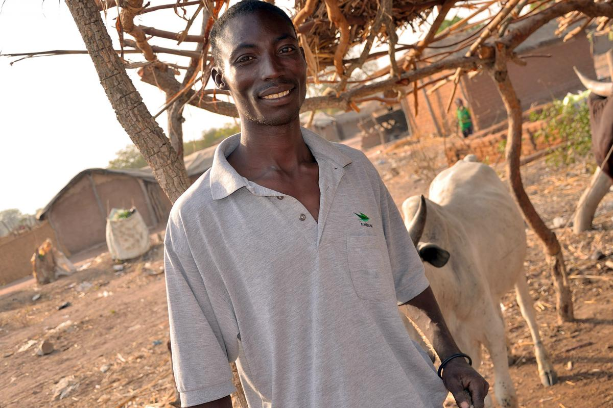 Loubandin Kim Copin made a life for himself and his family at Camp Dossiye, Chad. Photo: LWF/Thomas Ekelund