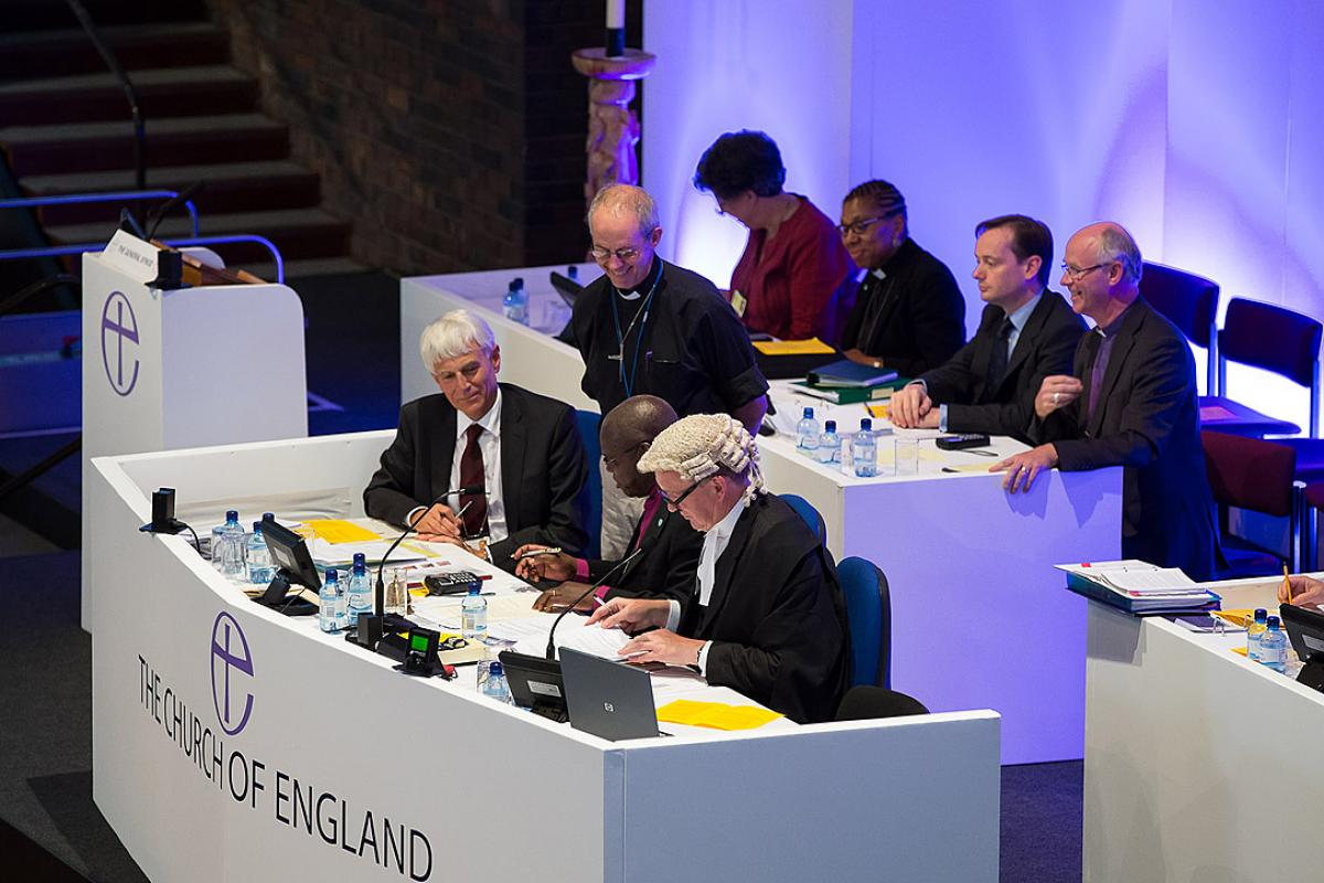 The Archbishop of Canterbury and officials at the Church of England General Synod. Picture By: Keith Blundy | CofE