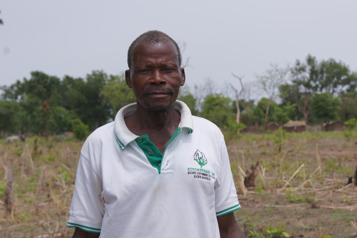 Daniel Deba, president of the Dosseye seed production cooperative. Photo: LWF/ C. Kästner