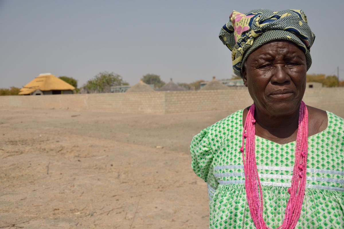 """The worst drought I have ever seen."" Tusnerde worries for her village. Photo: LWF/ Thomas Ekelund"